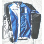 Marcello Bergamo - חולצת רכיבה חורפית כחול לבן