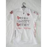 MB - חולצת רכיבה לנשים לב אדום