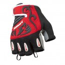 Half FInger Gloves Factory - כפפות קצרות לאופניים  - אדום